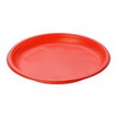 Deserta šķīvis, diametrs 170 mm, sarkans, PS, 100 gab.
