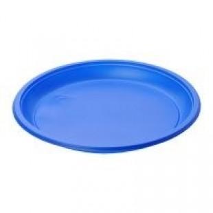 Deserta šķīvis, diametrs 170 mm, zils, PS, 100 gab.