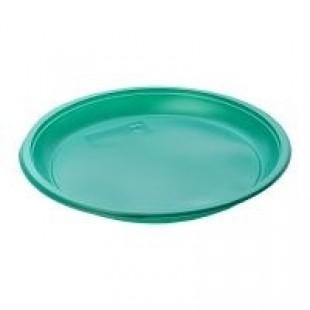 Deserta šķīvis, diametrs 170 mm, zaļa, PS, 100 gab.