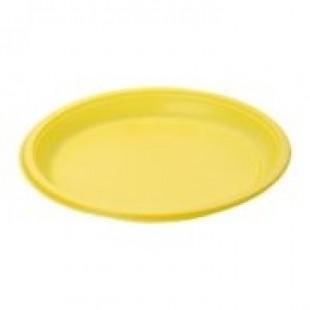 Deserta šķīvis, diametrs 170 mm, dzeltens, PS, 100 gab.